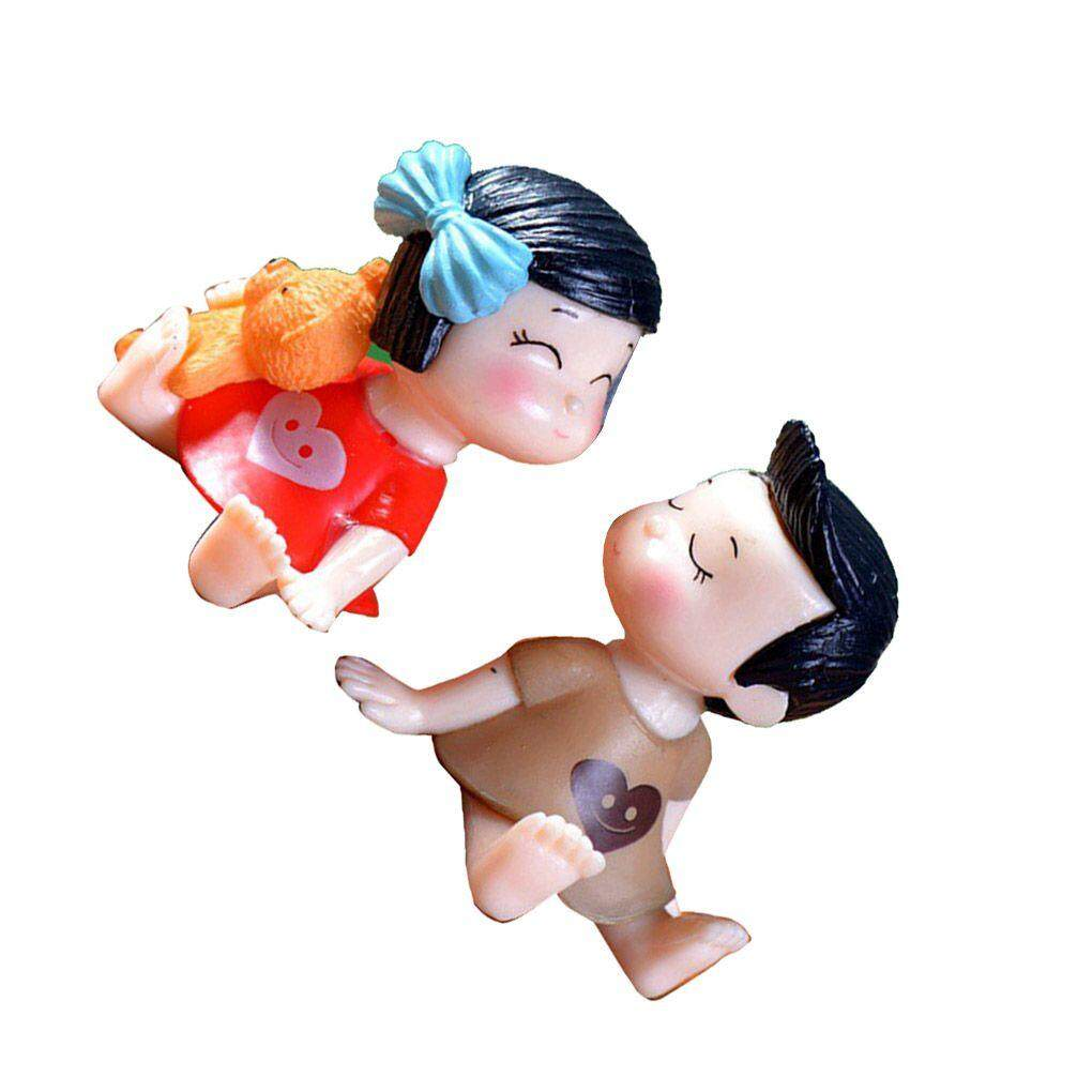 Pacar Kekasih Ciuman Pasangan DIY Boneka Ornamen Pesta Pernikahan Rumah Hiasan Kecil Kue Lanskap Mikro Swakriya Patung Patung