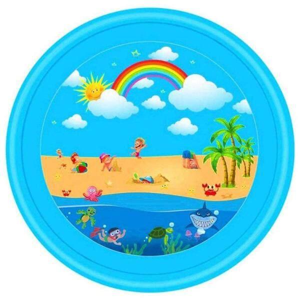 Bảng giá Vòi Phun Nước Bơm Hơi 67 Inch Thảm Chơi Cầu Vồng Splash Pad Đồ Chơi Ngoài Trời Cho Trẻ Em