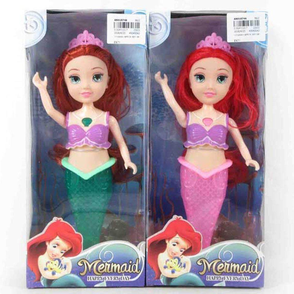 ผู้ขายที่ดีที่สุด 10 นิ้วจริงตุ๊กตานางเงือกแสงเพลง 2 ตุ๊กตาแฟชั่นสำหรับของขวัญวันเกิด By Beau-Store512.