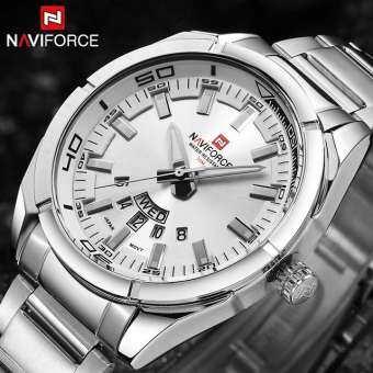 Naviforce แบรนด์นาฬิกาผู้ชายนาฬิกา Commercial ควอตซ์ 30 M นาฬิกากันน้ำสำหรับชาย's วงเหล็กสแตนเลสวันที่นาฬิกาคนขับรถ Relojes-