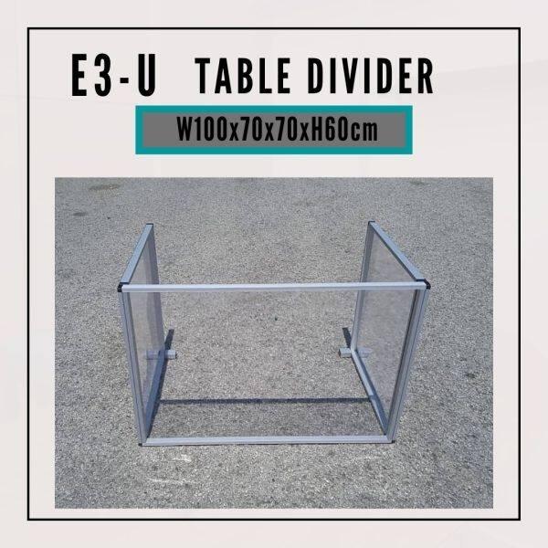 [Pre Order] Liveplus E3-U Shape - Custom Size W100+70+70cm x H60cm Table Divider/Sneeze Guard/Protector Shield Office Counter ( ETA : 2021-8-03 )