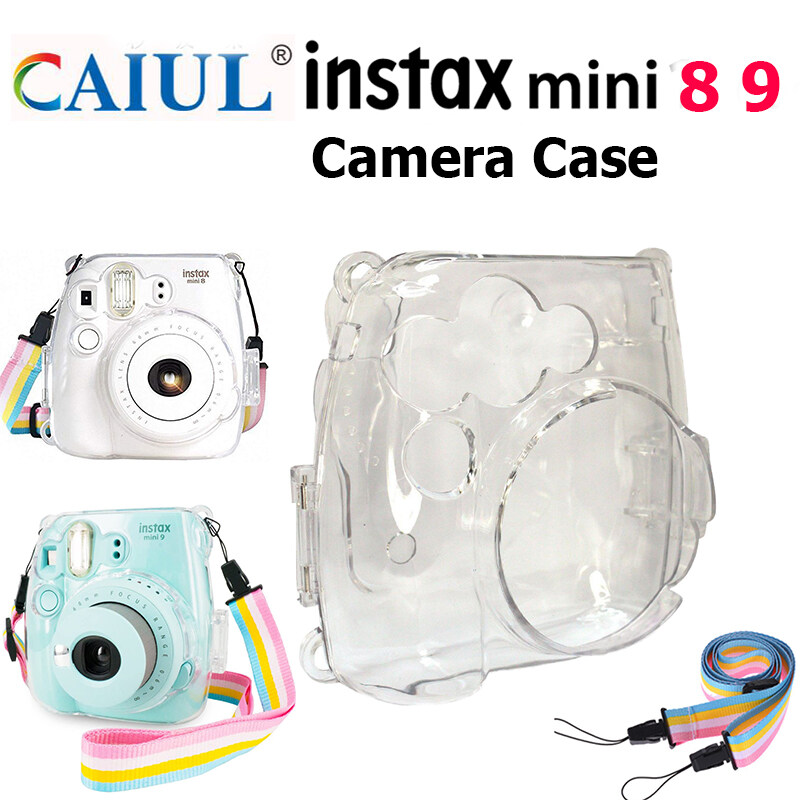Ốp Nhựa Trong Suốt Cho Fujifilm Instax Mini 8 Mini 8 + Mini 9, Có Dây Đeo