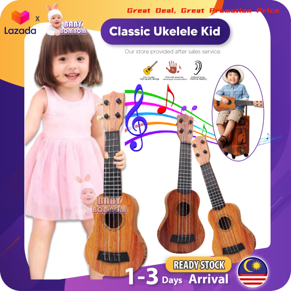Childrens Ukulele 4 Strings Portable Wood Plastic Mini Musical Instrument Acoustic Guitar For Kid Gift Toy Beginner Basic Players Educational Malaysia