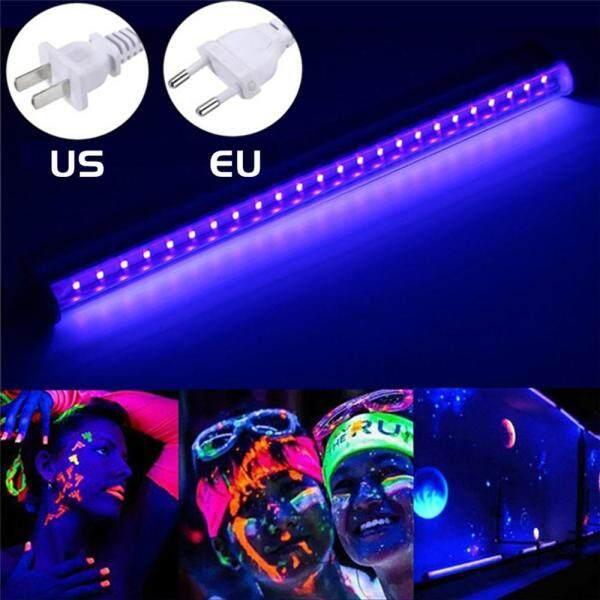 Bóng Đèn LED UV Ánh Sáng Đen Đồ Đạc Thiết Bị DJ 30Cm Màu Đen Đèn UV Thanh 24 Đèn LED Dải Câu Lạc Bộ Tiệc Tùng Sân Khấu Halloween Trang Trí Nội Thất