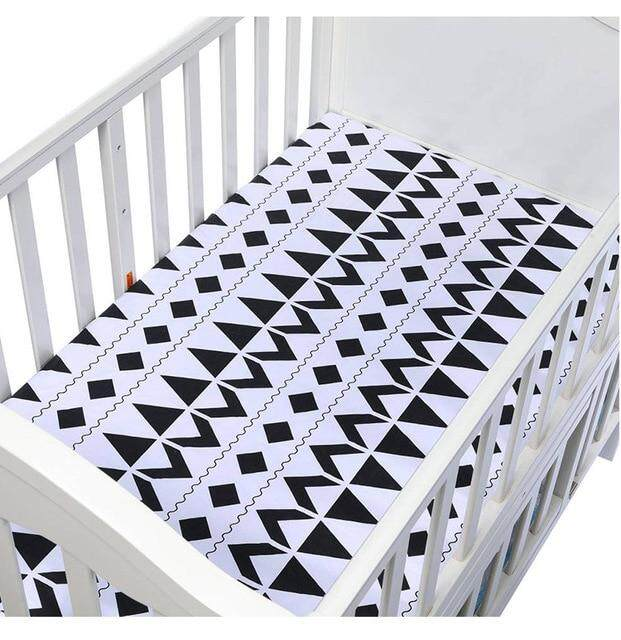130cm*70cm 100% Cotton Crib Fitted Sheets Soft Baby Bed Mattress Covers Print Newborn Toddler Bedding Set Kids Mini Cot Sheet.