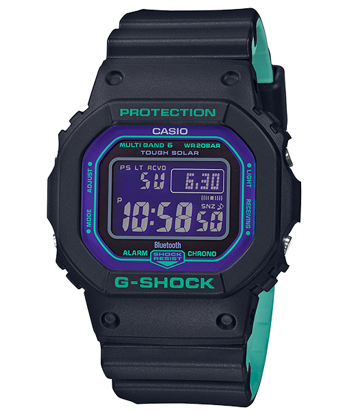 Casio G-Shock Special Color Models GW-B5600BL-1 Mens Watch (Black & Turquoise) Malaysia