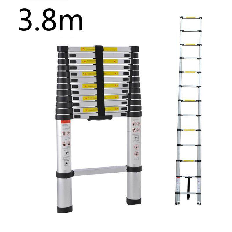 3.8m Portable Telescopic Ladder Thickening of Aluminum Alloy Folding Ladders 1X 2.9M ladder