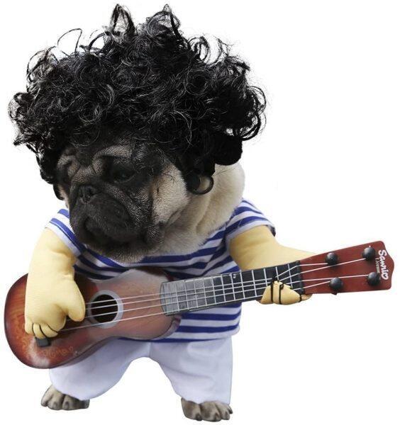 Pet Guitar Trang Phục Trang Phục Cho Chó Cưng Guitar Máy Nghe Nhạc Ourfits Cho Hóa Trang Giáng Sinh Halloween Party Vui Quần Áo Cho Mèo