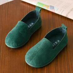 QQQ MALL Giày Cho Bé Gái Bé Thời Trang Trẻ Em Cô Gái Rắn Màu Sắc Giản Dị Da Duy Nhất Pricness Giày Giày Công Chúa Cho Bé Gái Giày Công Chúa Cho Trẻ Em Gái Trên Bán
