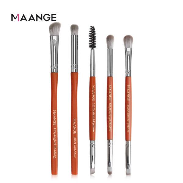 Bộ 5 cọ trang điểm MAANGE lông mềm dùng tán phấn mắt chuyên nghiệp - INTL