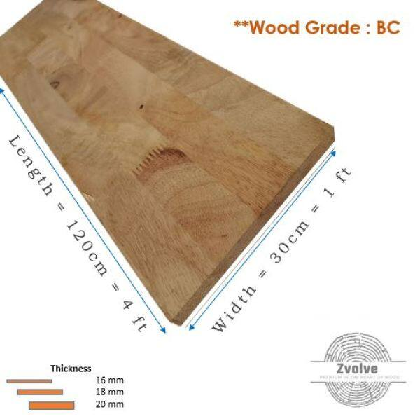 Rubber Wood Board 20mm x 30cm x 120cm (Grade BC) | Kayu Papan | Kayu Getah | Papan DIY | Papan Getah |