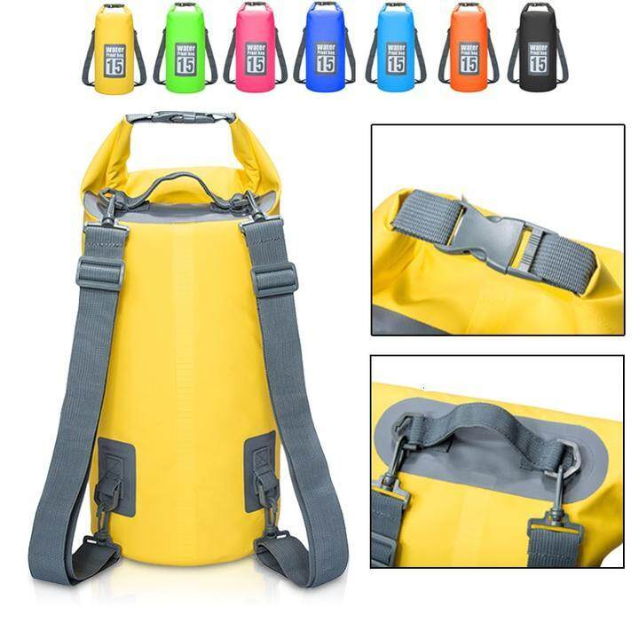 Double StrapThicker Ocean Pack 10L 20L Mobile Waterproof Shoulder Ocean Dry  Bag be056bc2b113c