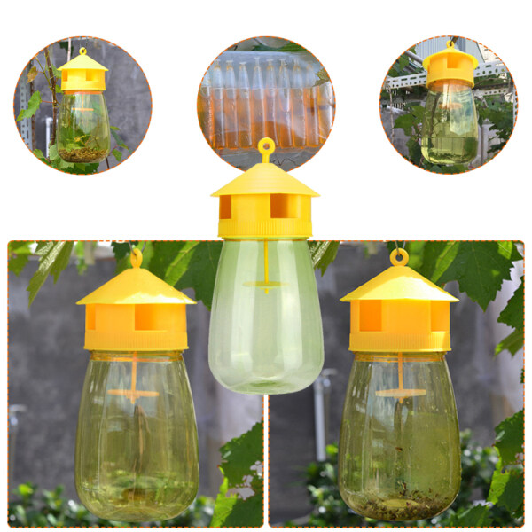 Wasp Trap Fruit Fly Flies Insect Bug Hanging Honey-Trap Catcher Killer No-Poison Hanging Tree Killing Bee Trapper Wasp Trap