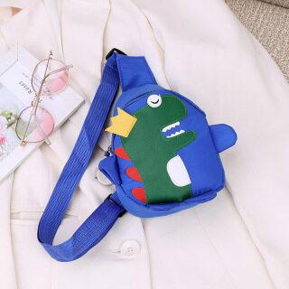 Colorful Cartoon Kids Chest Bag Crossbody Bag - Cute Dinosaur Bag Oys and Girls Messenger Bag, Kingdergarden School Bag thumbnail