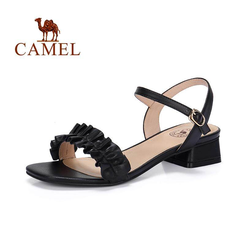 9042ea1c2 China. Camel women's shoes 2019 summer new fashion elegant square with  sandals female A92045616