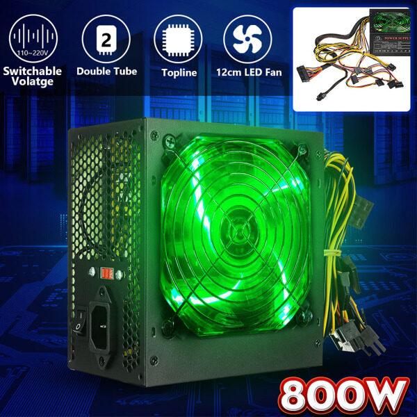 Nguồn Điện 120MM 800W Quạt Máy Tính Có Đèn LED Điện Áp Chuyển Mạch Thủ Công 110 ~ 220V