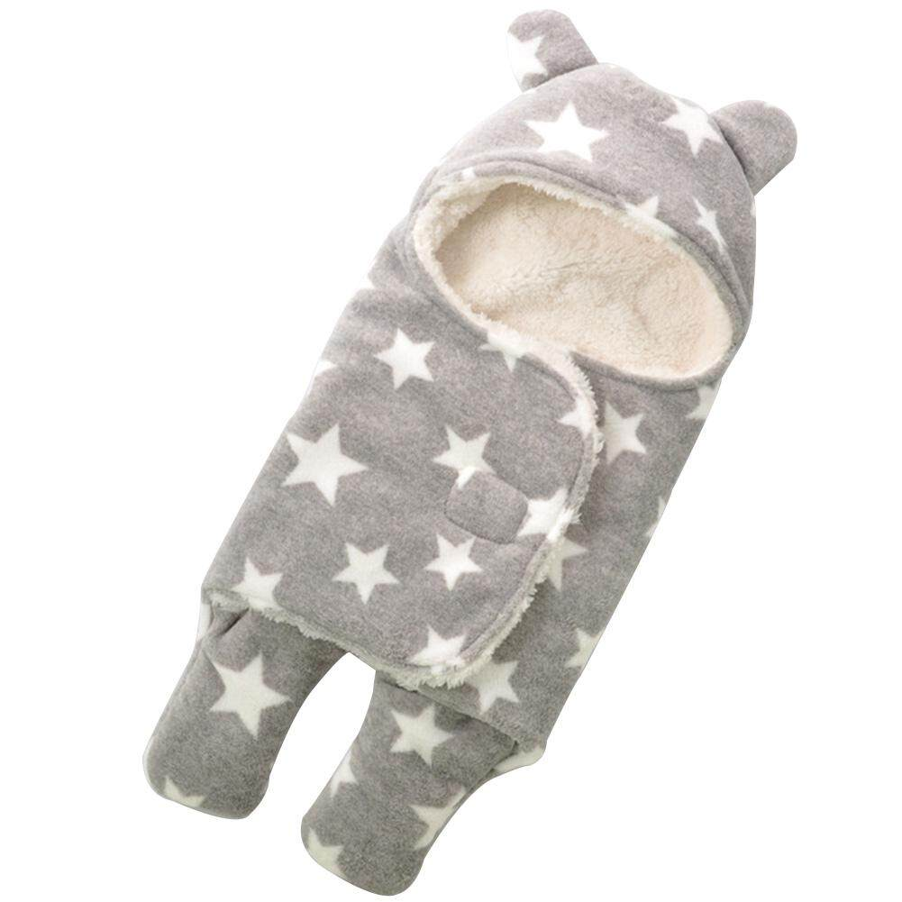 63565645b9 Boy Girl Pentastar Coral Fleece Wrap Newborn Baby Winter Swaddle Sleeping  Bag