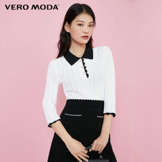 Vero Moda Áo Dệt Kim Tương Phản Tay Áo 3 4 Phong Cách Hàn Quốc Cho Nữ 320424030 thumbnail