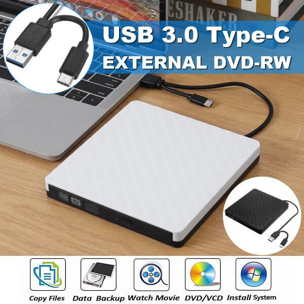 Slim External CD DVD Drive USB 3.0 TypeC Disc Player Burner Writer Laptop PC