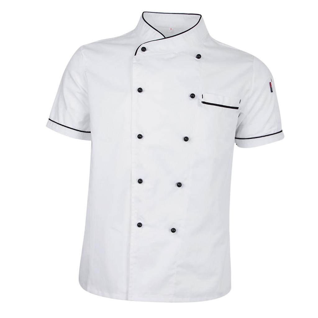 Dolity Chef Jacket Uniform Short Sleeve Hotel Kitchen Chefwear Cook Coat