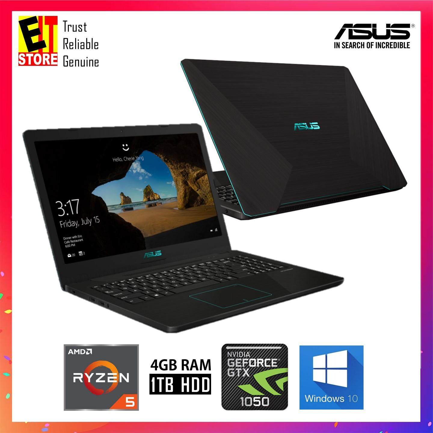 ASUS X570Z-DE4075T BLACK (R5-2500U/4GB/1TB/GTX1050 4GB/15.6FHD/W10/2YRS) LAPTOP + BAG Malaysia