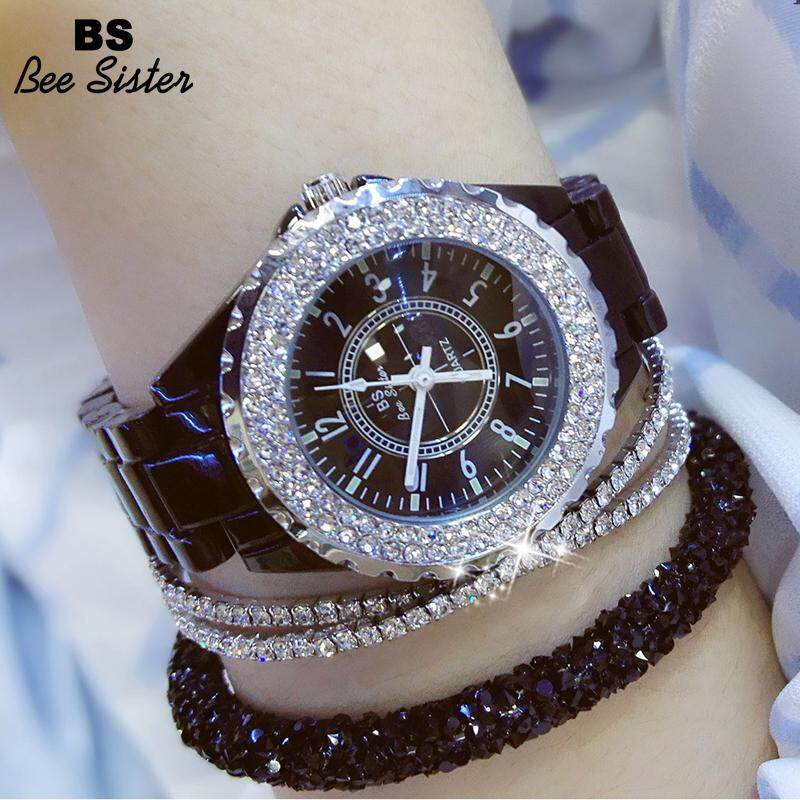 BS Bee Sister 0280T New Style Ladies Fashion Casual Watch Top Brand Korean Version Full Rhinestone Noble And Shine Stainless Steel Watches Diamond Women Gift Wristwatch Malaysia