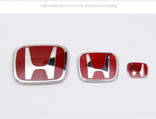 (Red) 3pcs HONDA CITY 2017 - 2019 Set of Three Car Logo Emblem thumbnail
