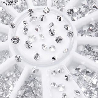 Aksesori Kuku Dekorasi Seni Kuku 3D Manik-manik Glitter Kuku Berlian Kristal Mengkilat Berlian Imitasi Seni Kuku Ukuran Campur thumbnail