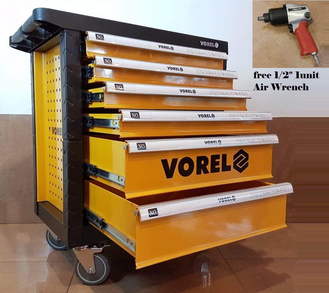 POLAND Vorel YT-58540 6 Drawer Tool Cart With Tools 177pcs ID31236 FOC KB113