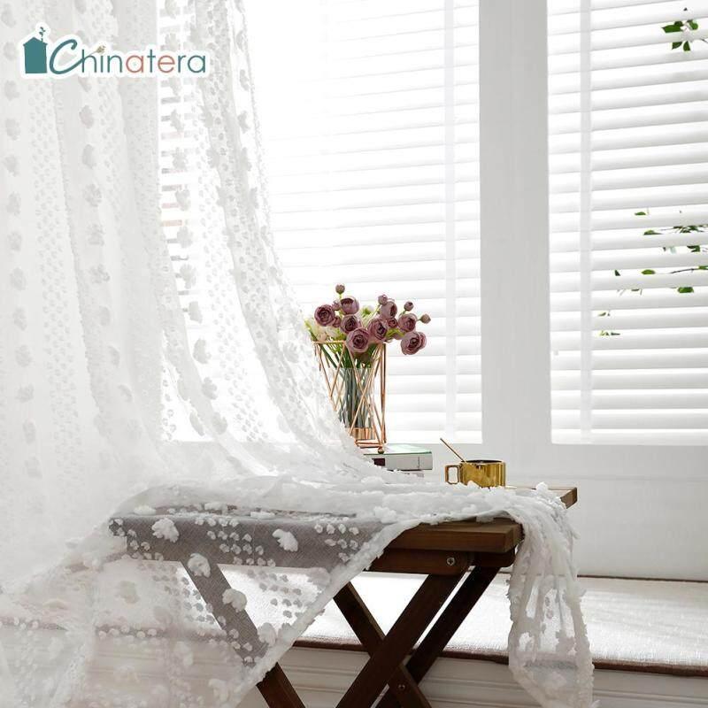 Rèm Cửa Sổ Vải Tuyn Chinatera, Tấm Rèm Sợi Trải Mỏng Hiện Đại, Phong Cách Bắc Âu, 1 Cái, Dùng Cho Phòng Khách, Phòng Ngủ