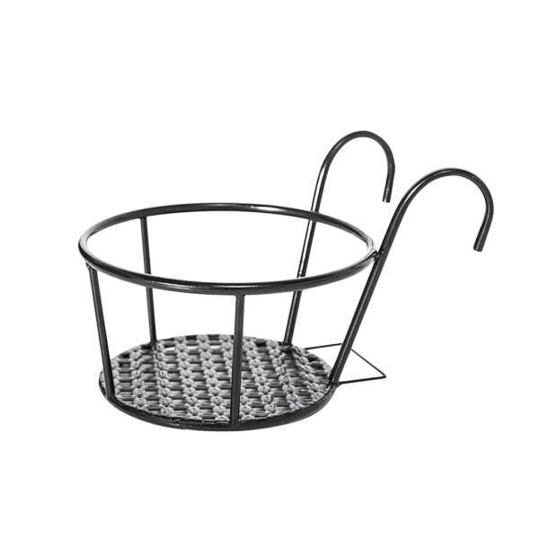 Flower Pot Holder Iron Art Hanging Basket Balcony Garden Home Ornament Planter Pot Support Stand