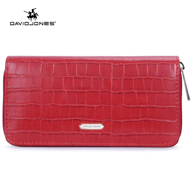 David Jones Paris women handbag pu leather female purse bag small animal print lady wallet bag