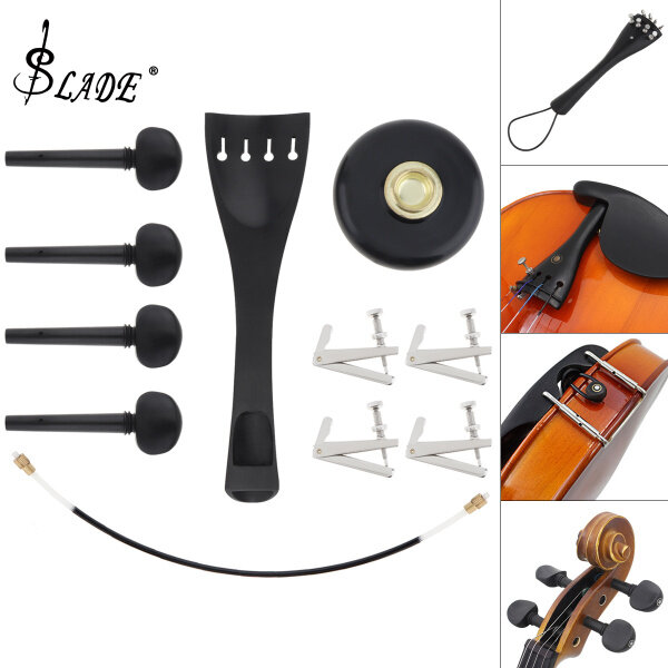 SLADE 11 In 1 Set Universal Cello Accessories Kits Units Professional Ebony Material Violoncello Parts Assembly Component Malaysia