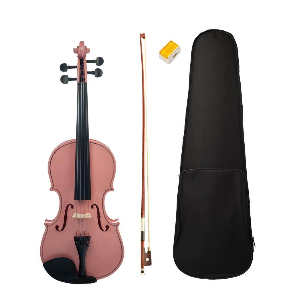 Baoblade 1 Bộ Solidwood Hồng 4/4 Kích Thước Đàn Violin Fiddle với Lưu Trữ Ốp Lưng Nơ Nhựa Thông