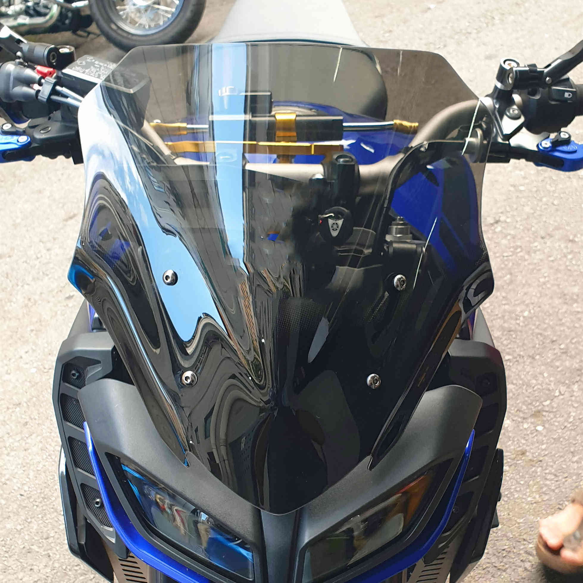 XuBa Motorbike Windshield Windscreen For Yamaha MT09 MT-09 FZ09 FZ-09 2017 2018 black