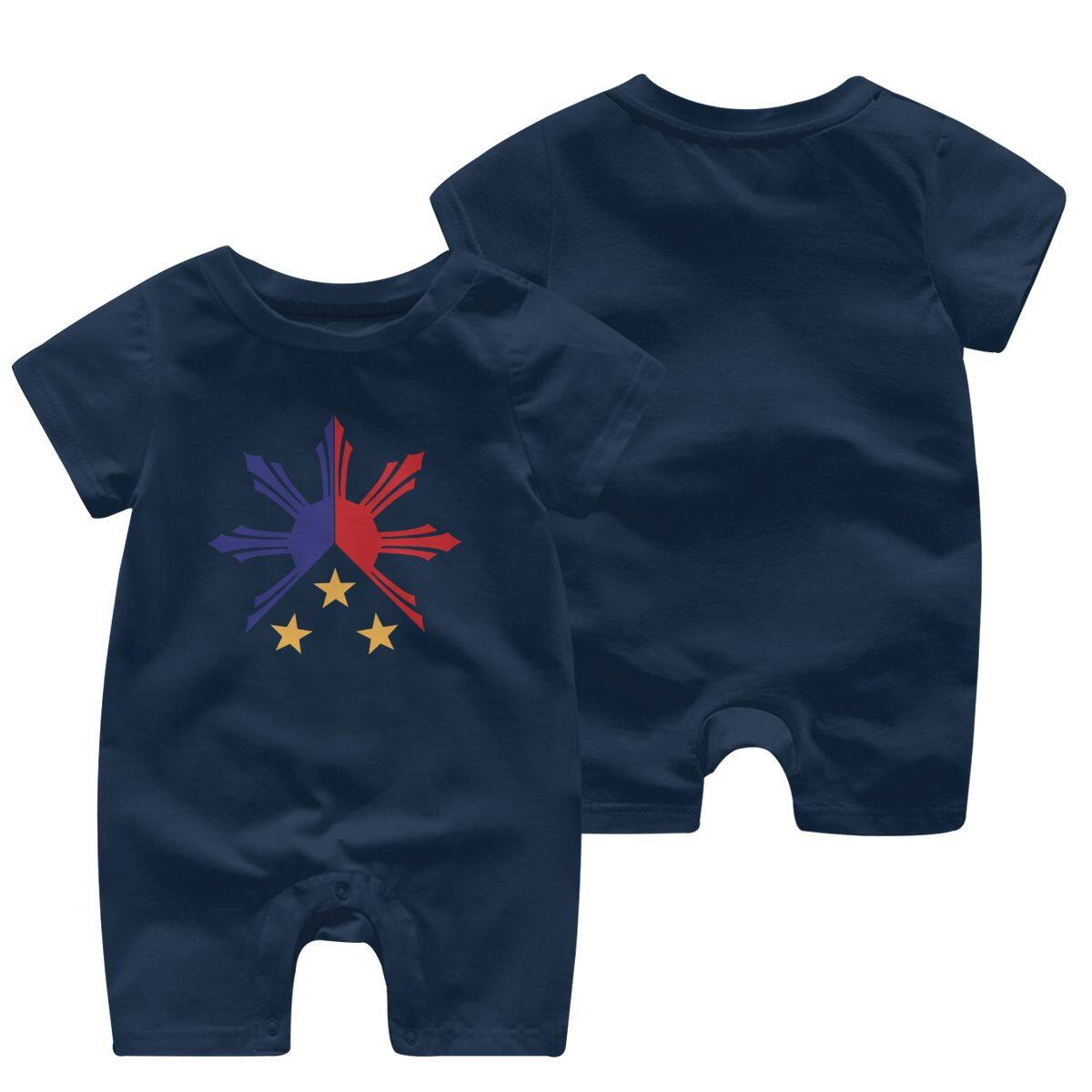 Infant Babys Cotton Long Sleeve Philippines Sun and Stars Jumpsuit Romper Funny Printed Romper Clothes