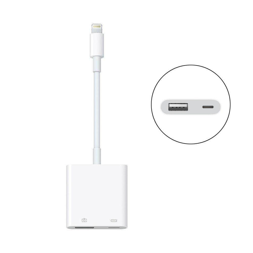 USB Camera Adapter for iPhone iPad,OTG USB 3.0 Female Adaptor Cable with Charging Port, Supports Connect Card Reader, MIDI Interface, Hubs, Ethernet Adapter, Audio No App Required, [Upgraded]