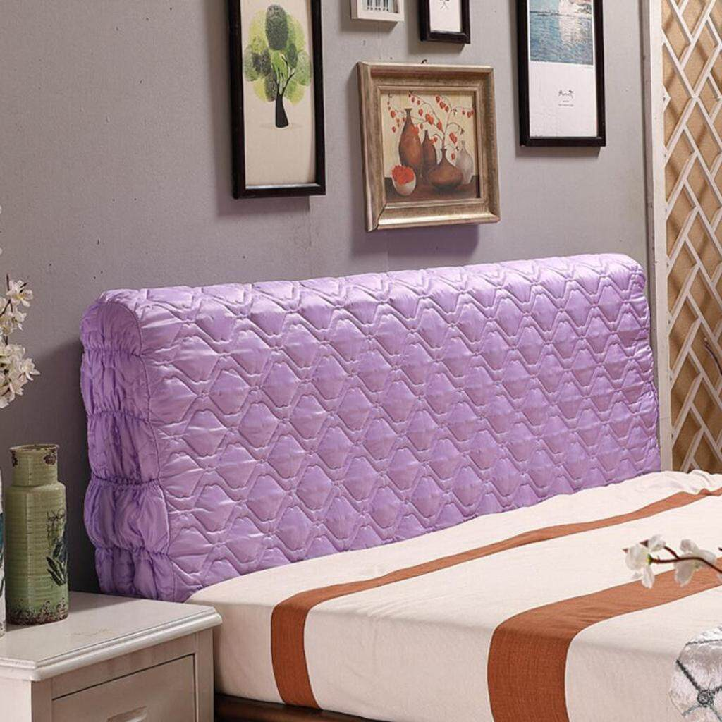 Perfk 200cm 79inch Width Dust Proof Bed Headboard Protector Slipcover Super King