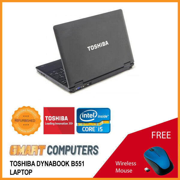 Toshiba Dynabook B551 Laptop / 15.6 inch LCD / Intel Core i5-2nd Gen / 4GB DDR3 Ram / 250GB HDD / WiFi / Windows 10 Pro / Webcam Malaysia