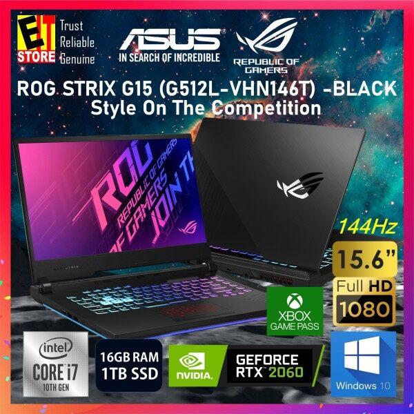 ASUS ROG STRIX G15 G512L-VHN146T GAMING LAPTOP -BLACK (I7-10750H/16GB/1TB SSD/15.6 FHD 144HZ/NVIDIA RTX 2060 6GB/W10/2YRS) + ROG BAGPACK Malaysia
