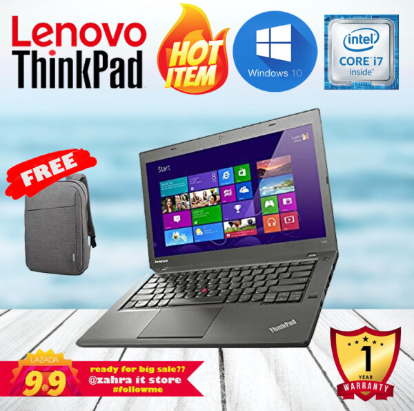 LENOVO THINKPAD T440S ULTRABOOK [CORE I7-4600U / 12GB RAM /256GB SSD] WINDOWS 10 PRO / 1 YEAR WARRANTY Malaysia