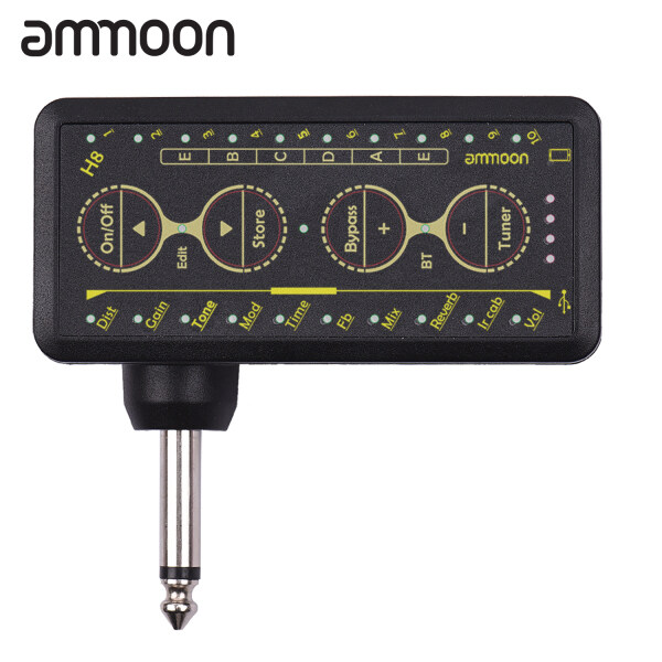 ammoon Multi-effects Guitar Headphone Amplifier Rechargeable Pocket Headphone Guitar Amp with 3.5mm Jack 10 Preamp Chorus Phaser Reverb Delay Tuner for Personal Practice Malaysia
