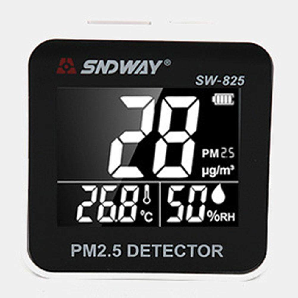 Led Desktop PM2.5 Air Alarm Function Square Mini Portable Accurate USB Rechargeable Digital Display Haze Detector