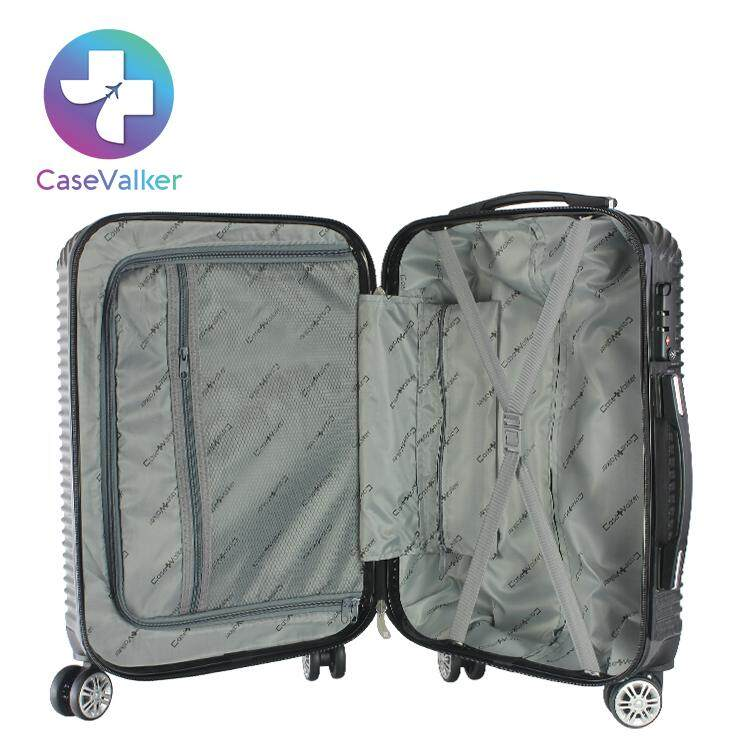 Case Valker 20 Inches Illussion Suitcase Pc+Abs Luggage With Tsa Lock