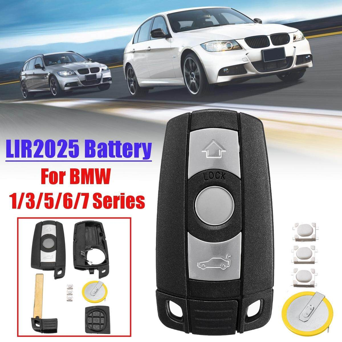 【Free Shipping + Flash Deal】3 Buttons Remote Key Fob With LIR2025 Charging  Bat-tery For BMW 1 3 5 6 7 Series