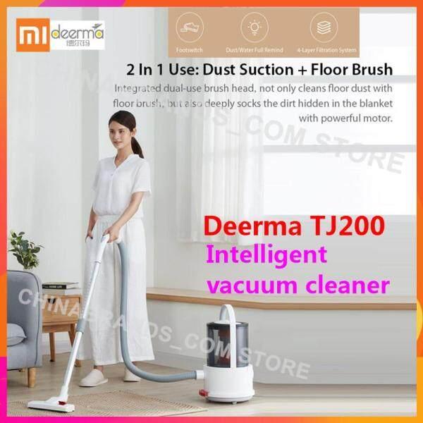 【Dust Suction+Floor Brush】Original Deerma TJ200 2 in 1 Vacuum Cleaner Wet Dry Liquid Blow Dryer Floor Crevice Upholstery Brush Singapore
