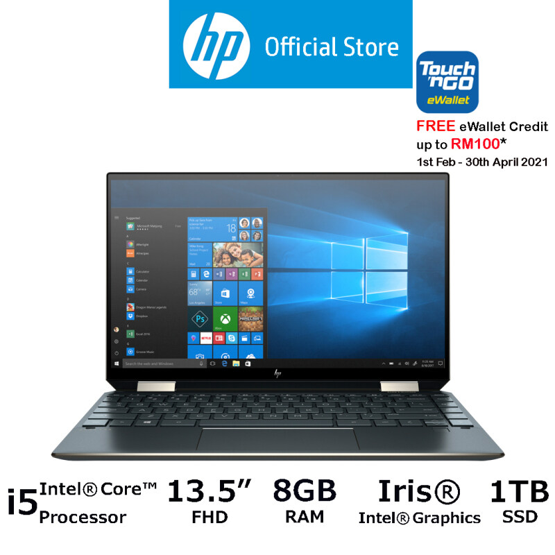 HP Spectre x360 Conv 14-ea0053TU [FREE Pre-installed MS Office Home, Delivery & Laptop Sleeve] [FREE Redemption: 1 x RM100 Touch n Go E-Voucher - 1st Feb 2021– 30th Apr 2021 Only!] Malaysia
