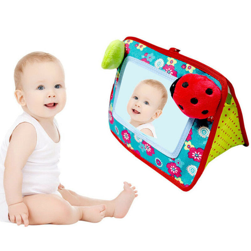 M-Baby Baby Stroller Hanging Toy Cognitive Mirror Hand Bell Toy for Cot Pushchair Singapore