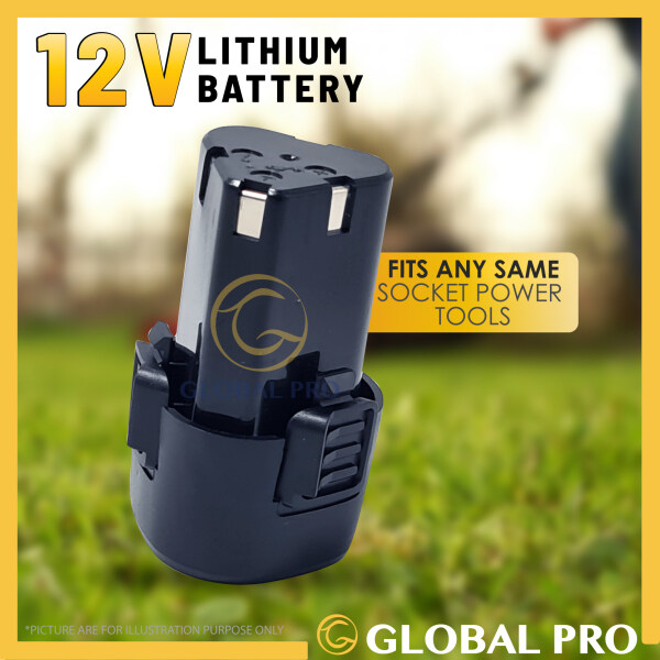 12V JAMIIN 12V LITHIUM BATTERY Rechargeable Battery Lithium Replacement Li-Ion Battery for Cordless Drill,Lawn Mover etc