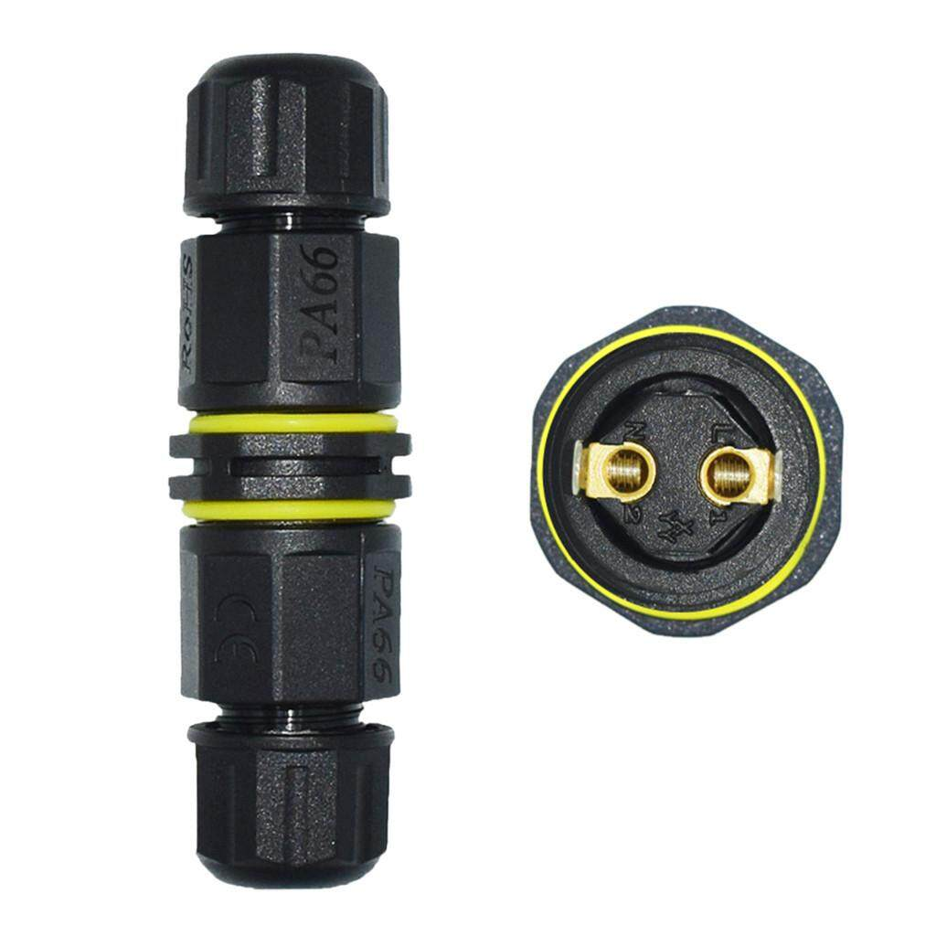IP67 Waterproof Electrical Connector Cable Wire 2 Pin/3 Pin Outdoor Plug Socket